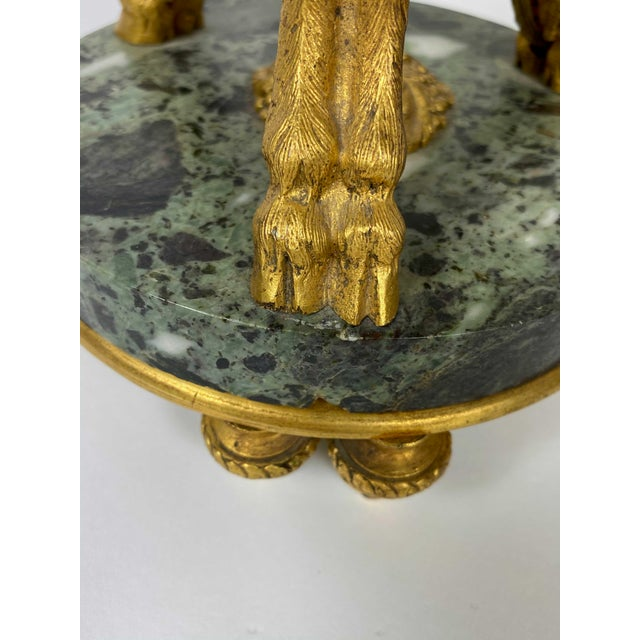 Verde Antico Marble Urns as Lamps After Pierre Gouthiere - a Pair For Sale - Image 9 of 11
