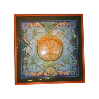 Framed Hermes Aloha Scarf