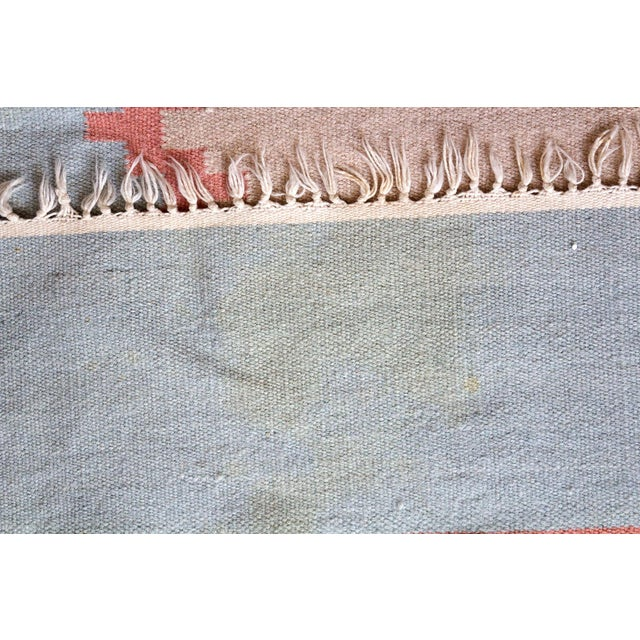 Vintage Mid-Century Navajo Inspired Pastel Rug - 3′8″ × 5′11″ For Sale - Image 9 of 11
