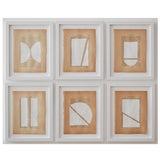 Image of Josh Young Design House - 6 Piece Blanc Géométrique Collection For Sale