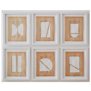 Josh Young Design House - 6 Piece Blanc Géométrique Collection For Sale