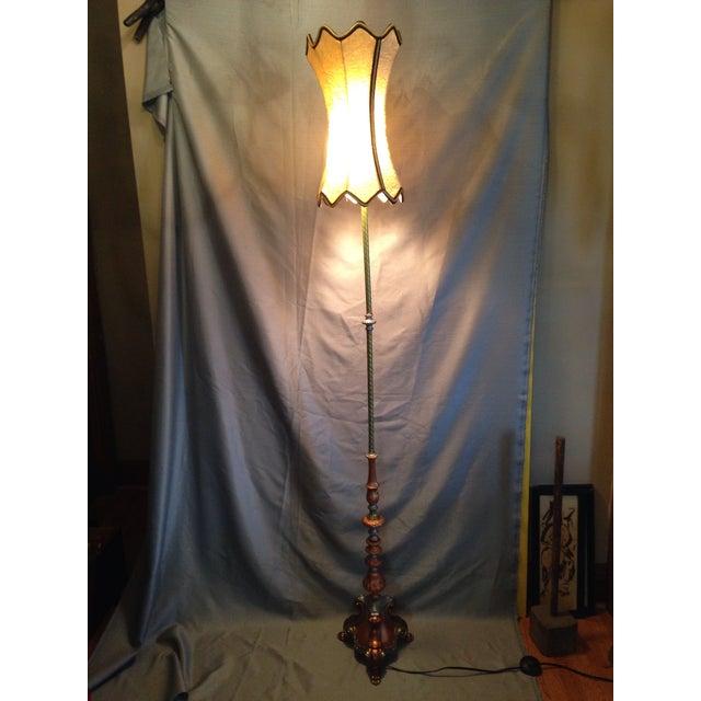 Retro Cornucopia Handpainted Floor Lamp - Image 5 of 7