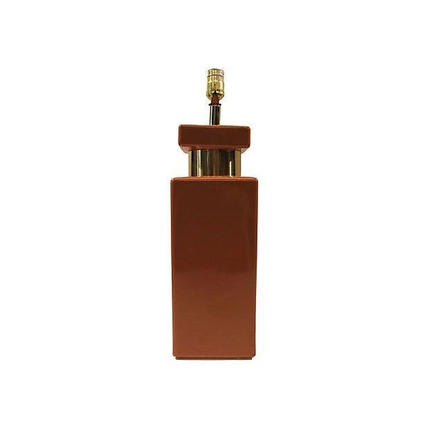 Copper & Gold Geometric Lamp - Image 5 of 5