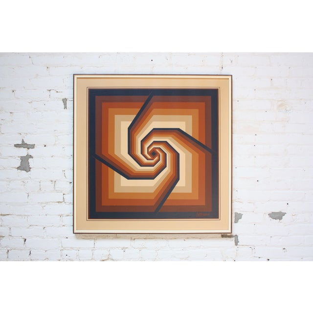 fedc81100b2e Oil on Canvas Geometric Op Art by Letterman For Sale - Image 13 of 13
