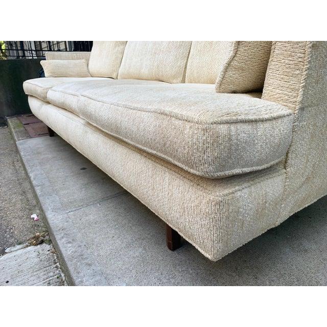 Wood Edward Wormley Three Seat Sofa for Dunbar For Sale - Image 7 of 10