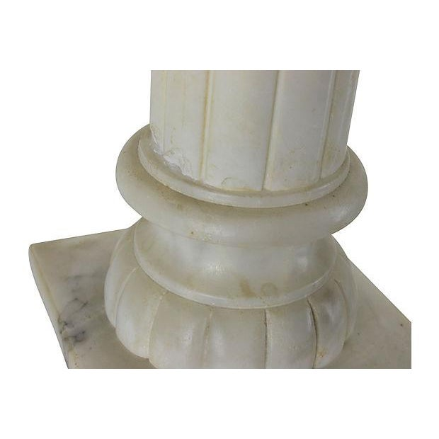 Alabaster Column Table Lamps - a Pair - Image 5 of 5