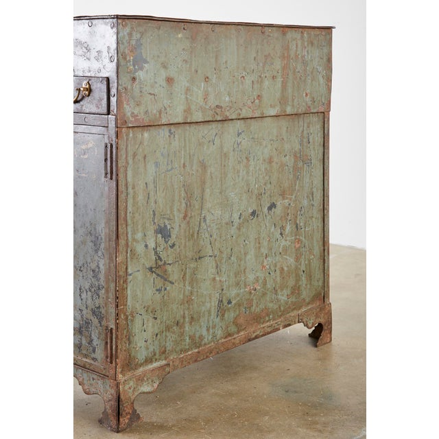 19th Century English Iron Bronze Industrial Davenport Desk For Sale - Image 12 of 13