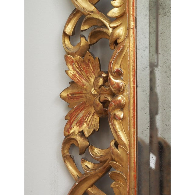 Mid 19th Century LARGE GILDED AND PIERCED CUSHION MIRROR For Sale - Image 5 of 8
