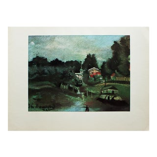 "1930s Henri Rousseau, ""The Surroundings of St-Cloud"" First Edition Swiss Lithograph For Sale"