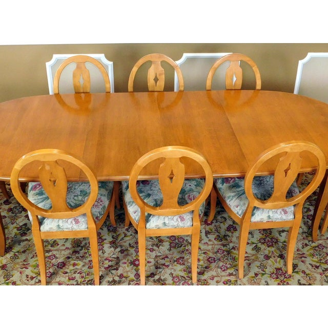 Ethan Allen Country Colors Wheat Dining Set - Image 9 of 11