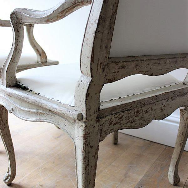 "18th C Louis XV Armchairs, Signed ""Blanchard"" Pair For Sale In New Orleans - Image 6 of 7"