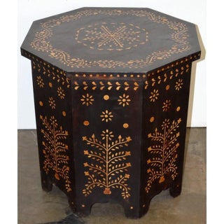 Indian Bone Fitted Octagonal Side Table - Dark Preview