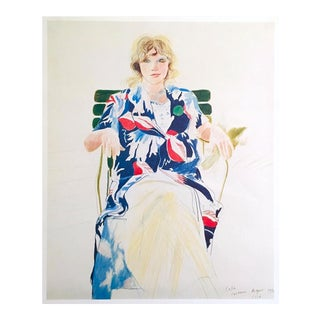 "David Hockney Rare Vintage 1980 Dumont Art Calendar Lithograph Print Poster "" Celia, Cavennac "" 1971 For Sale"