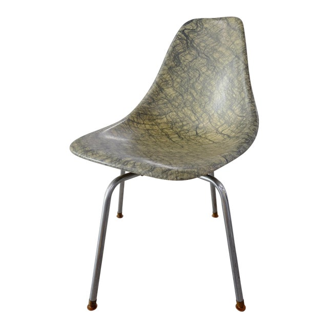 Molded Eames Style Fiberglass Side chair - Image 1 of 3