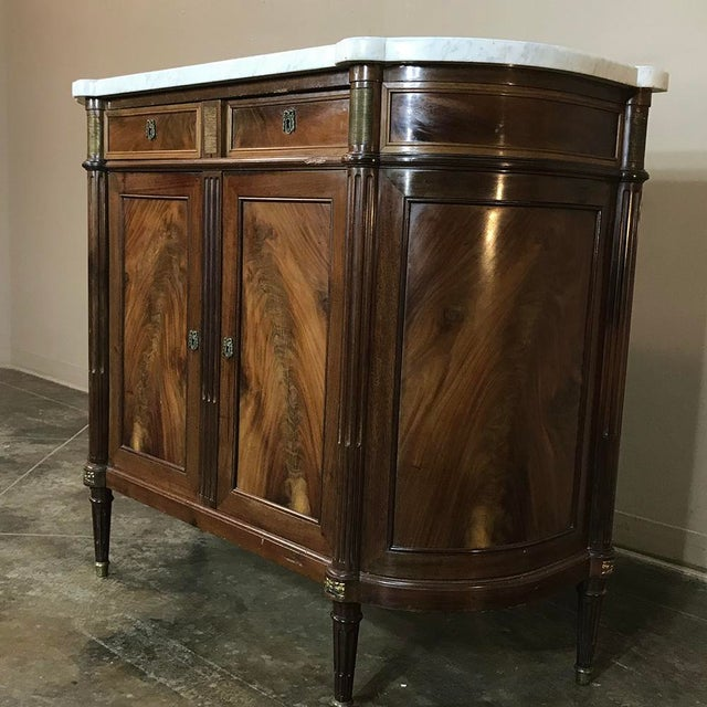 19th Century French Louis XVI ~ Directoire Style Marble Top Buffet For Sale In Dallas - Image 6 of 11