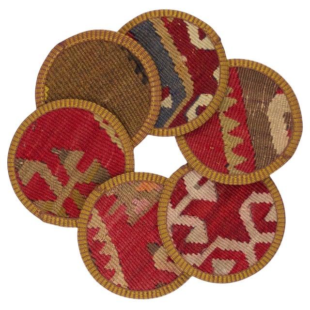 Melika Kilim Coasters - Set of 6 - Image 1 of 2