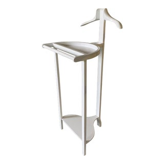 Fine Handcrafted Lacquered Mahogany Valet Stand For Sale
