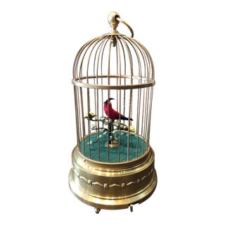 Late 19th Century German Signing Bird Automaton For Sale