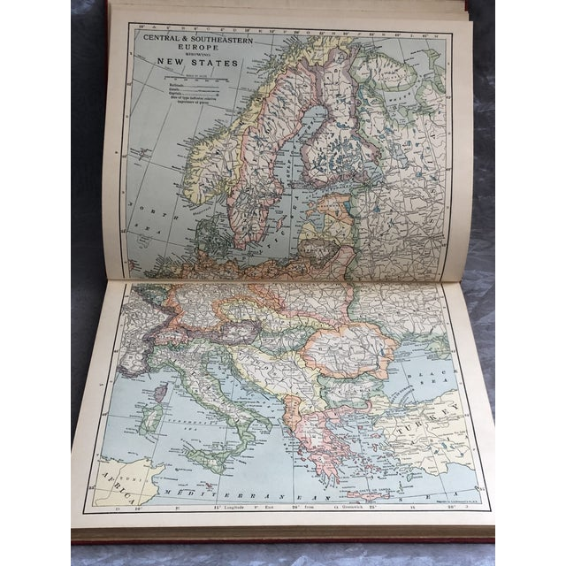 1920s World Atlas With Decorative Cover For Sale - Image 11 of 13