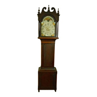 1837 Signed George Eby Antique Tall Case Grandfather Clock For Sale