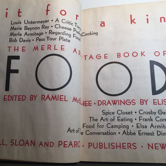 "Art Deco ""Fit for a King: Merle Armitage Book of Food"" Book For Sale - Image 3 of 11"