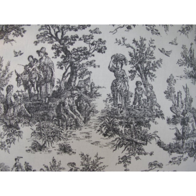 Handmade Classic Black Toile Pillow - 18 X 18 Pillow - Image 4 of 5