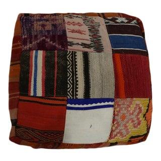 "Vintage Moroccan Floor Cushion - 1'11"" X 1'11"" Feet For Sale"