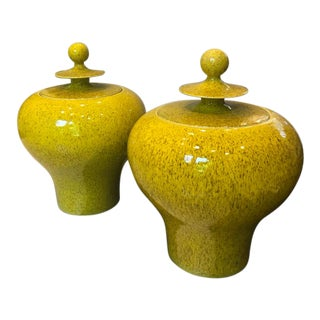 Global Views Citron Jars - a Pair For Sale