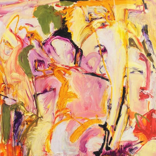 Purple Summer Garden by Elke Behrens, 1994 For Sale - Image 8 of 13