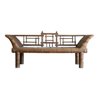 Chinoiserie Faux Bamboo Bench