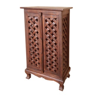 Lattice Cabinet For Sale