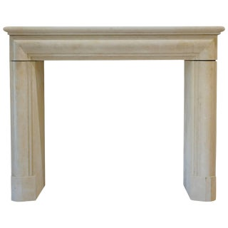 Late 20th Century French Limestone Fireplace Mantel For Sale