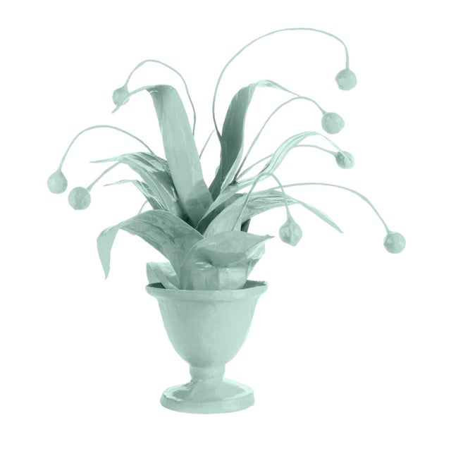 Contemporary Stray Dog Designs for Chairish Crunchberry Faux Plant, Light Blue For Sale - Image 3 of 3