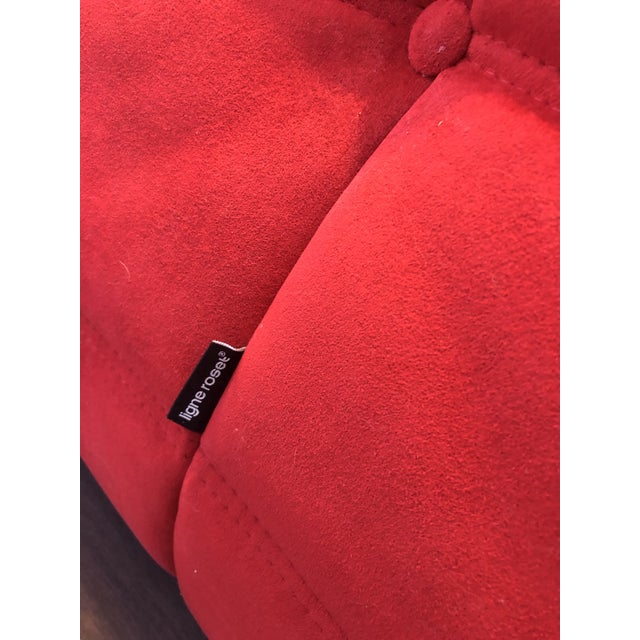 2010s Modern Ligne Roset Red Togo Chair For Sale - Image 5 of 6