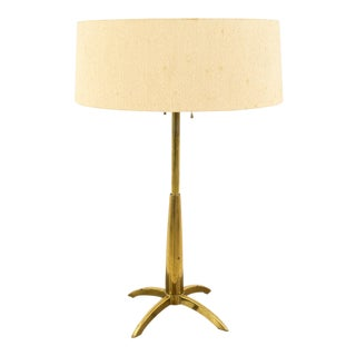 Gerald Thurston for Stiffel Mid-Century Brass Rocket Table Lamp For Sale