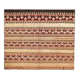 Antique Mounted Indonesian Ceremonial Tapis From Lampung For Sale