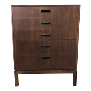 1960s Mid Century Modern Tall Dresser For Sale