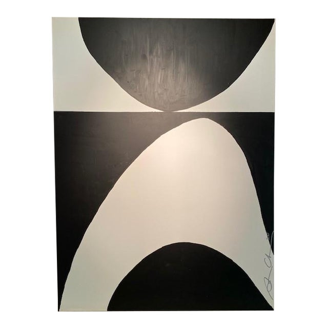 Black & White Original Contemporary Painting For Sale