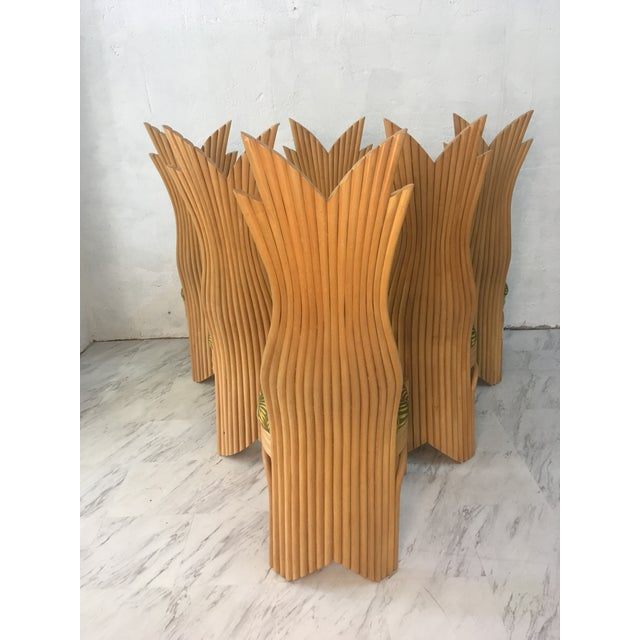 Rattan Dining Chairs, Set of Six For Sale - Image 9 of 10