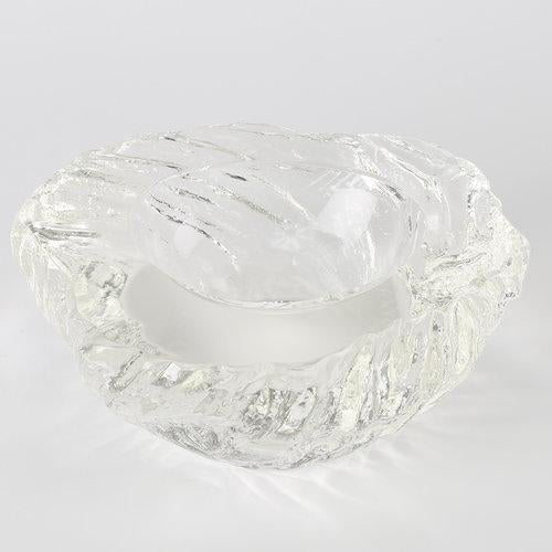 Crystal 1970's vintage MAURIZIO ALBARELLI SEGUSO VETRI D'ARTE CRYSTAL BOWLS- A Pair For Sale - Image 7 of 10