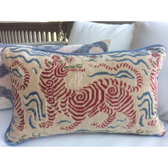 Clarence House Pillows in Tibet Dragon - a Pair - Image 2 of 3