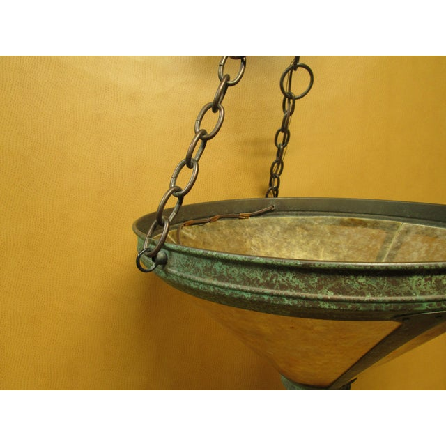 Vintage Arts and Crafts Mica Mesa Pendant Lamp For Sale In Los Angeles - Image 6 of 10