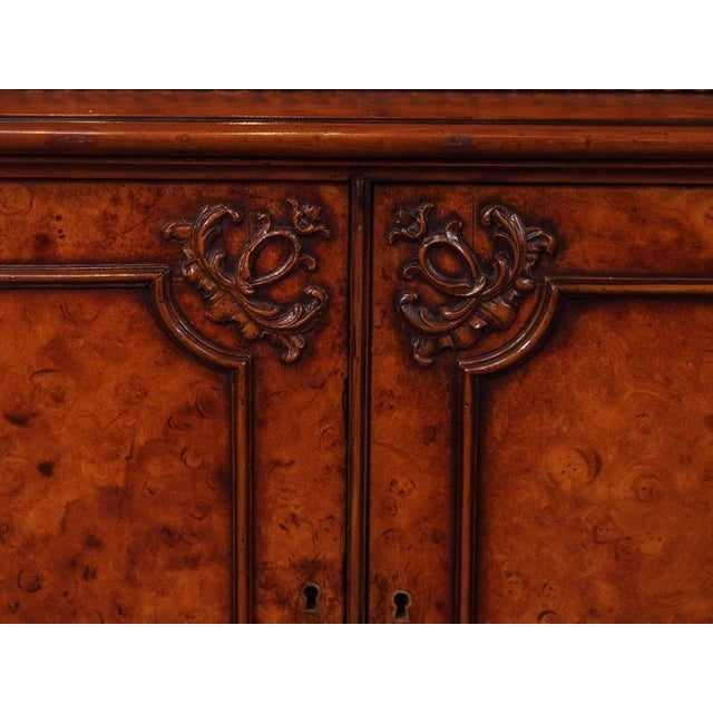 Walnut Antique English Bookcase For Sale - Image 7 of 10