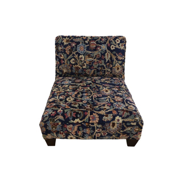 Wood 1880's Persian Low Profile Slipper Chair or Petbed From Antique Khorassan Rug For Sale - Image 7 of 7