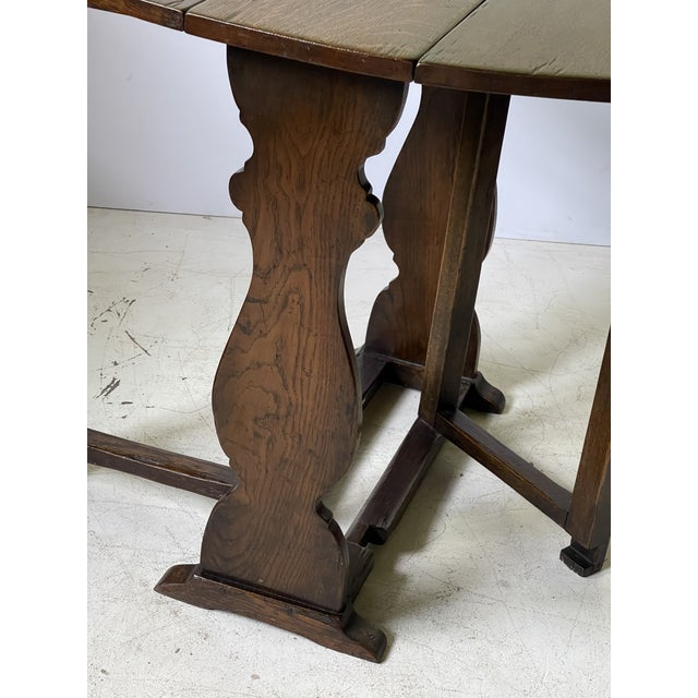 English Dropleaf Trestle Table For Sale - Image 11 of 12
