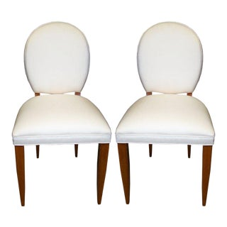 1940s Vintage Side Chairs Attributed Andre Arbus- a Pair For Sale