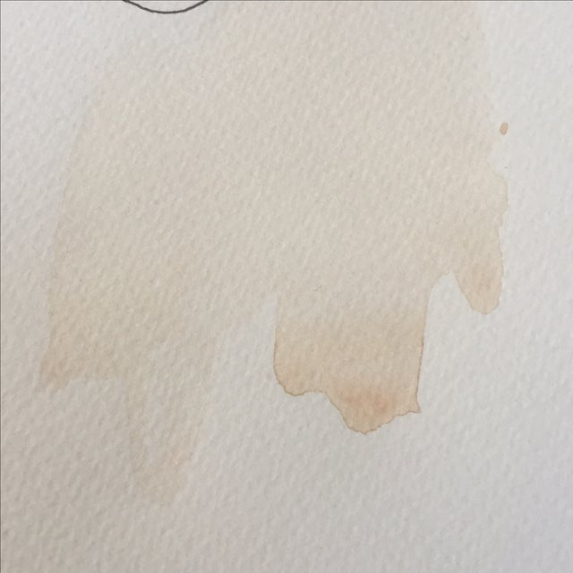 Abstract Face Watercolor Painting - Image 7 of 8