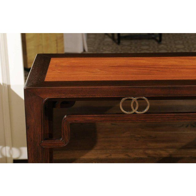 Mid-Century Modern Stunning Restored Altar Console Table by Michael Taylor for Baker, Circa 1970 For Sale - Image 3 of 11