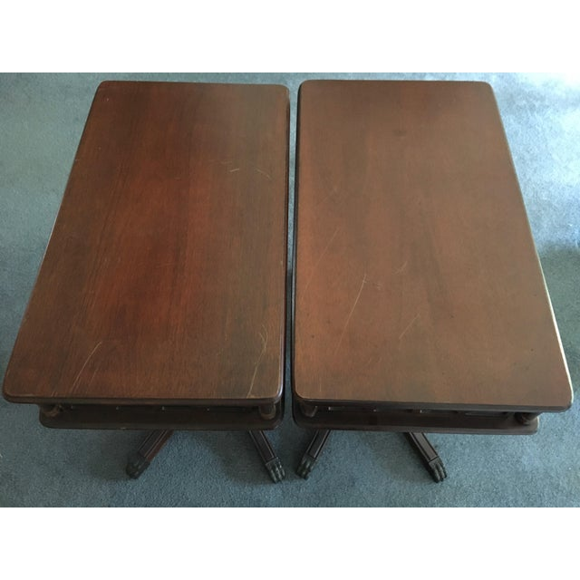 Imperial Federal Style Side Tables - A Pair For Sale - Image 12 of 12