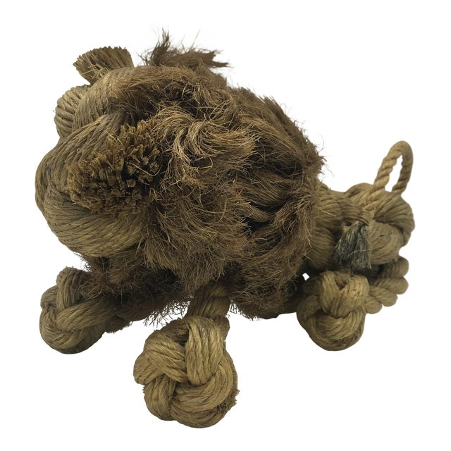 1960s Mid-Century Danish Braided Rope Lion For Sale
